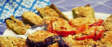 ירקות אפויים עם פירורי לחם